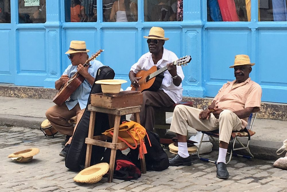 Cuban street musicians 2017. Photo: Jill Stogol