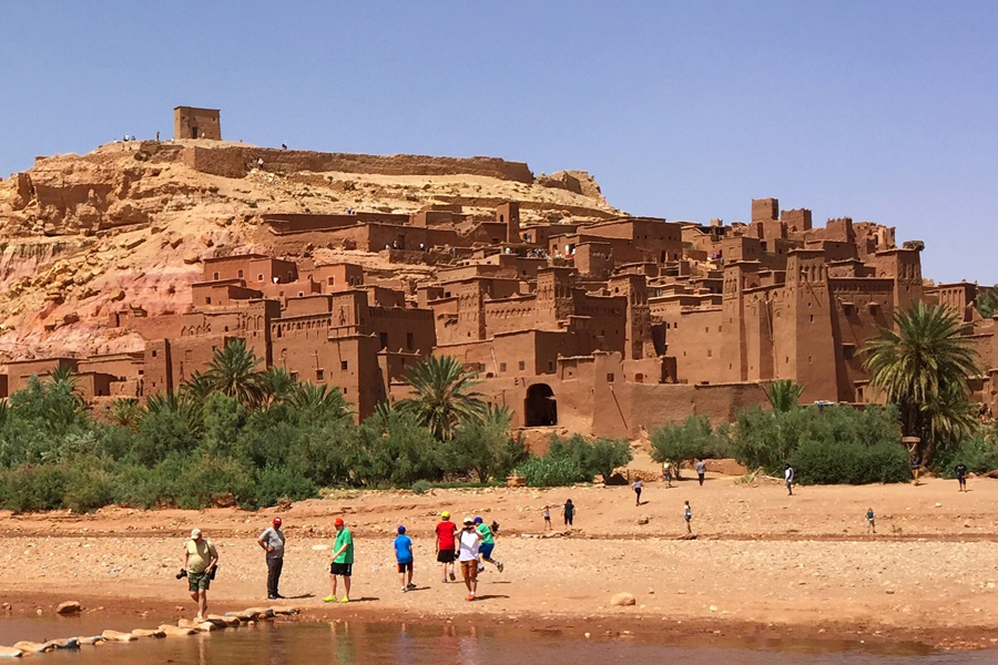 Earlier this year Wendy and her family traveled through the #2 country on our list: Morocco. Here they are at the Ksar of Ait-Ben-Haddou.