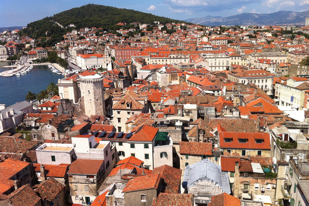 red roofs by the sea in Split, Croatia