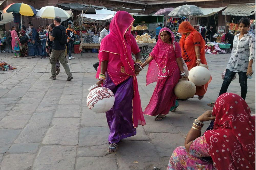 Women in Jodhpur market India