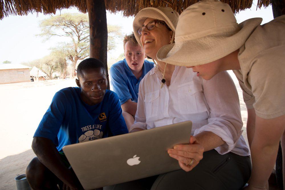 Zambia Chiawa hut laptop