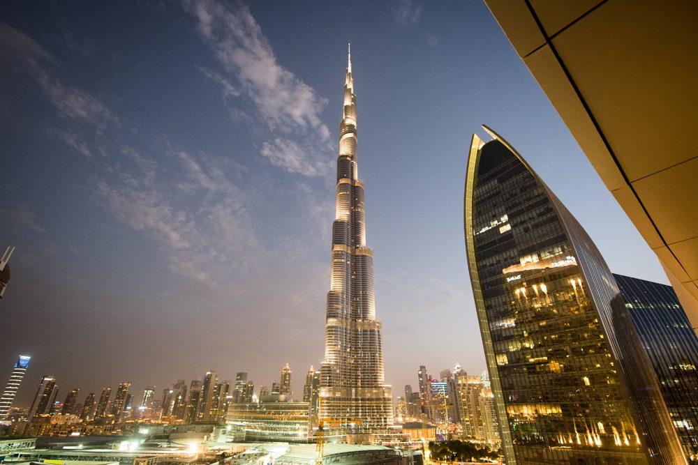 Dubai Burj Khalifa view from hotel balcony