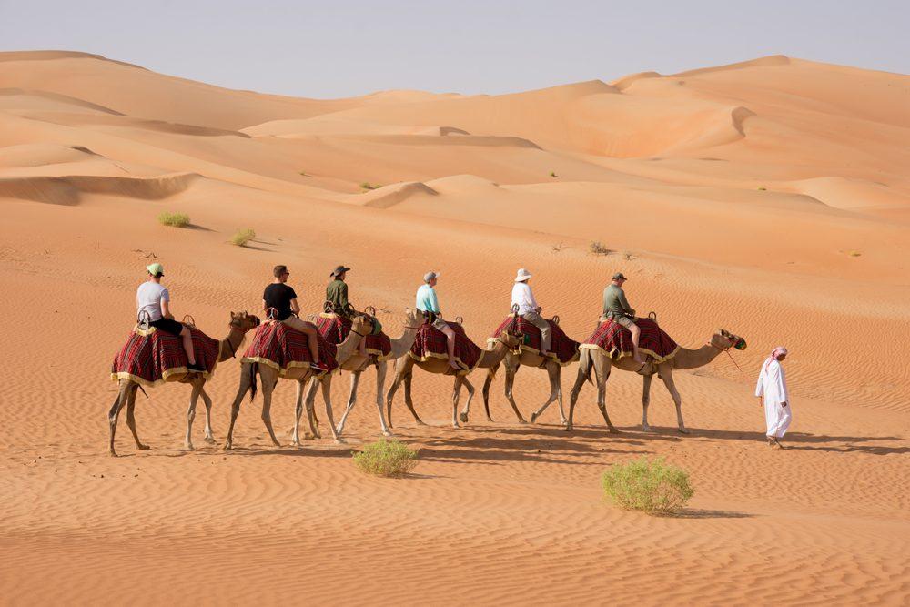 Abu Dhabi Qasr al Sarab camel caravan
