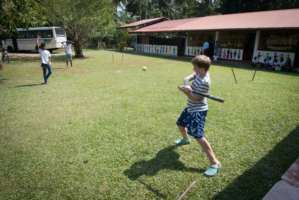This bat-and-ball game is called rounders. Watch the videos below to see what else we did and how much fun we had.