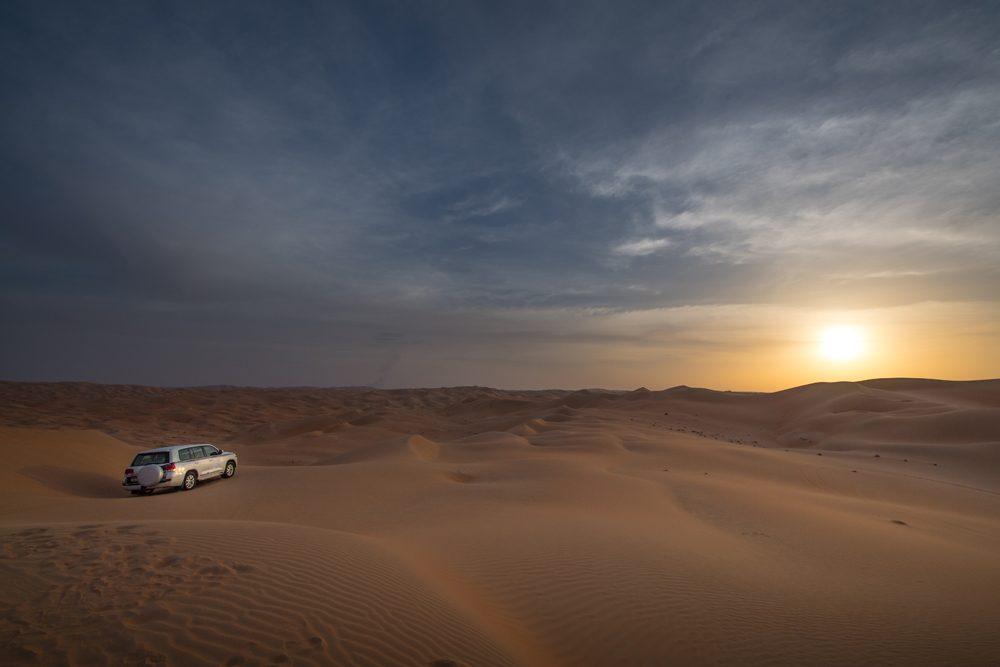 Abu Dhabi Qasr al Sarab dune bashing sunset