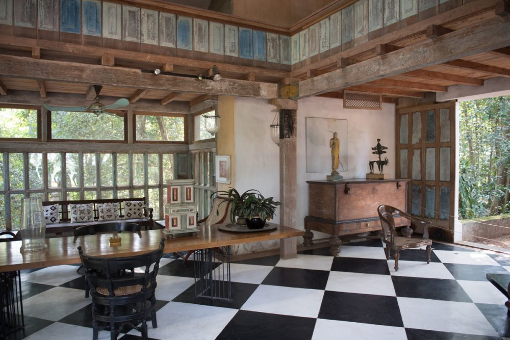 The architect liked to bring the outdoors in, blending nature and design.