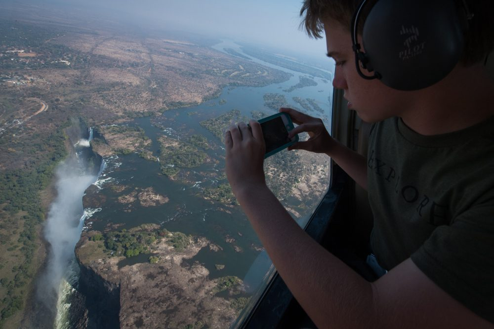 Victoria Falls helicopter Doug