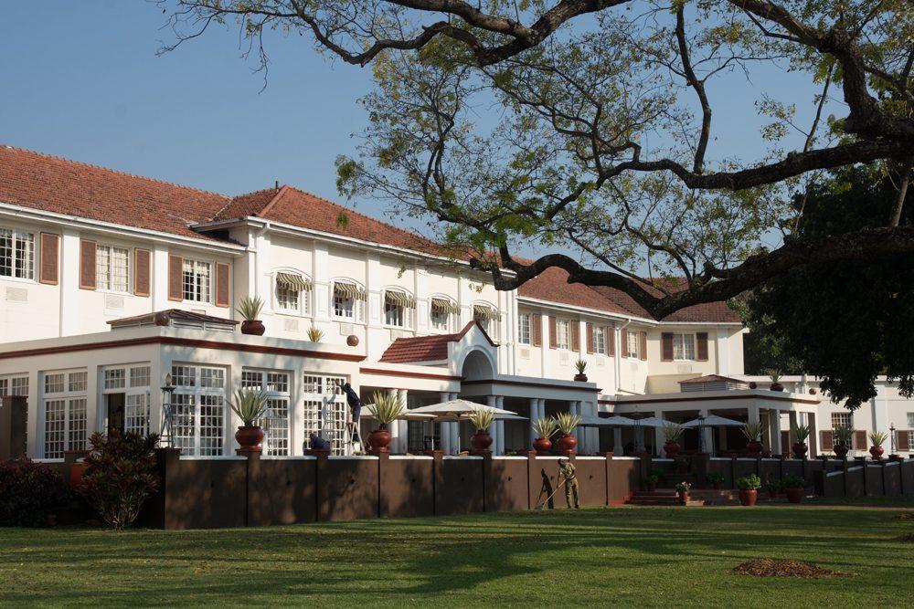 Victoria Falls Hotel veranda