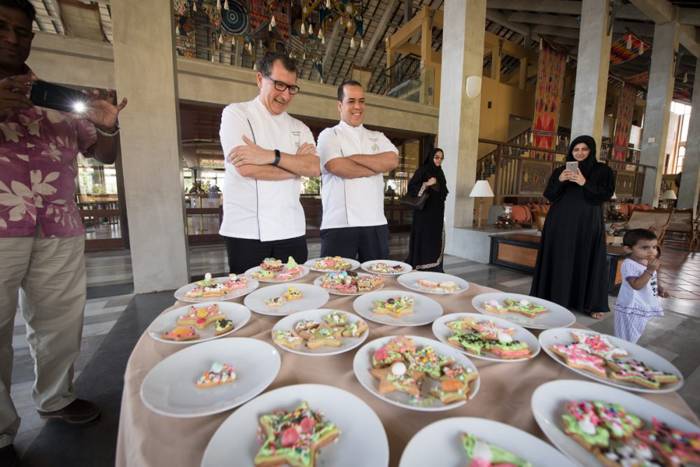 The kids' contest was deemed important enough to be judged by both the hotel's executive chef and its pastry chef.