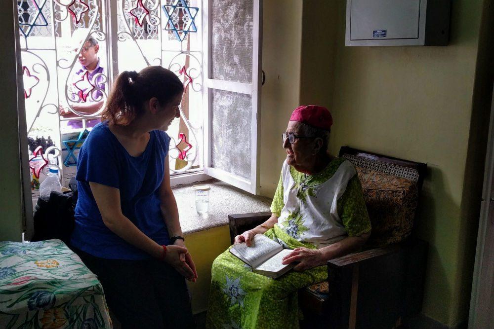 Two women talking in Cochin India