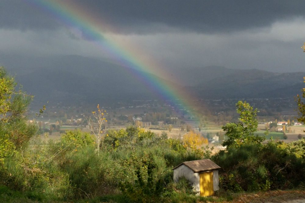Rainbow in Umbria Italy