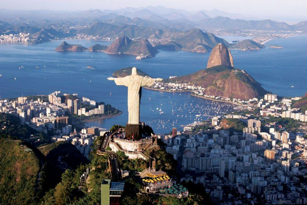 Christ the Redeemer statue over Rio de Janeiro, Brazil