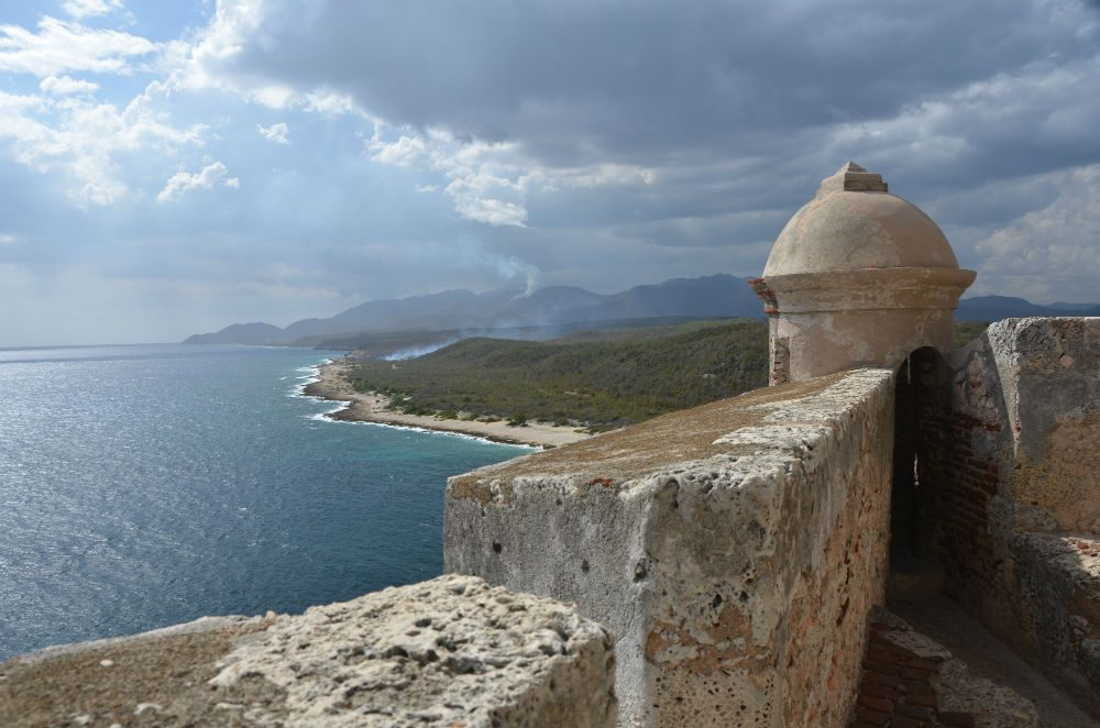 Santiago de Cuba fort looking over the ocean