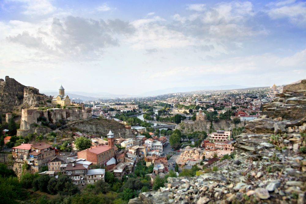 aerial view of Tblisi Georgia