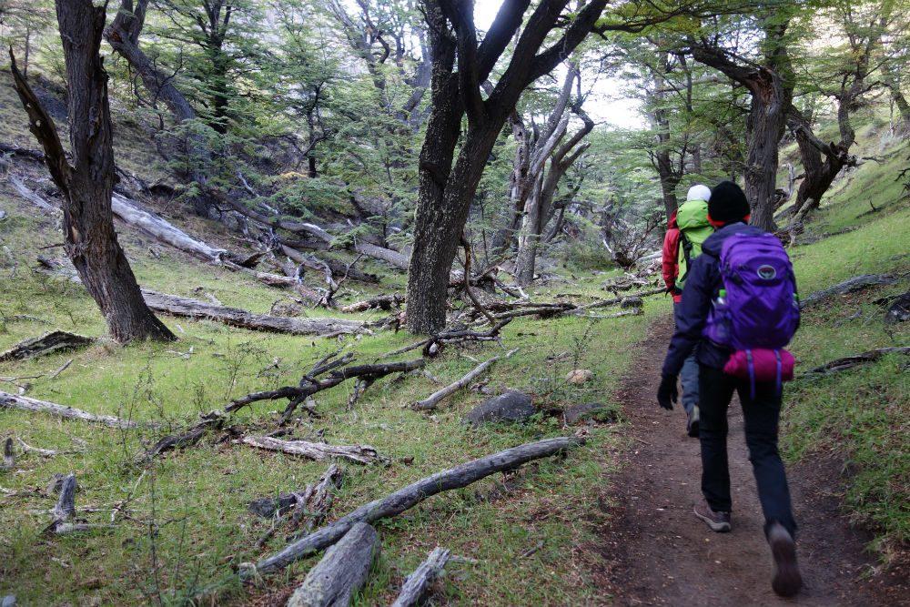 hiking in Argentine Patagonia