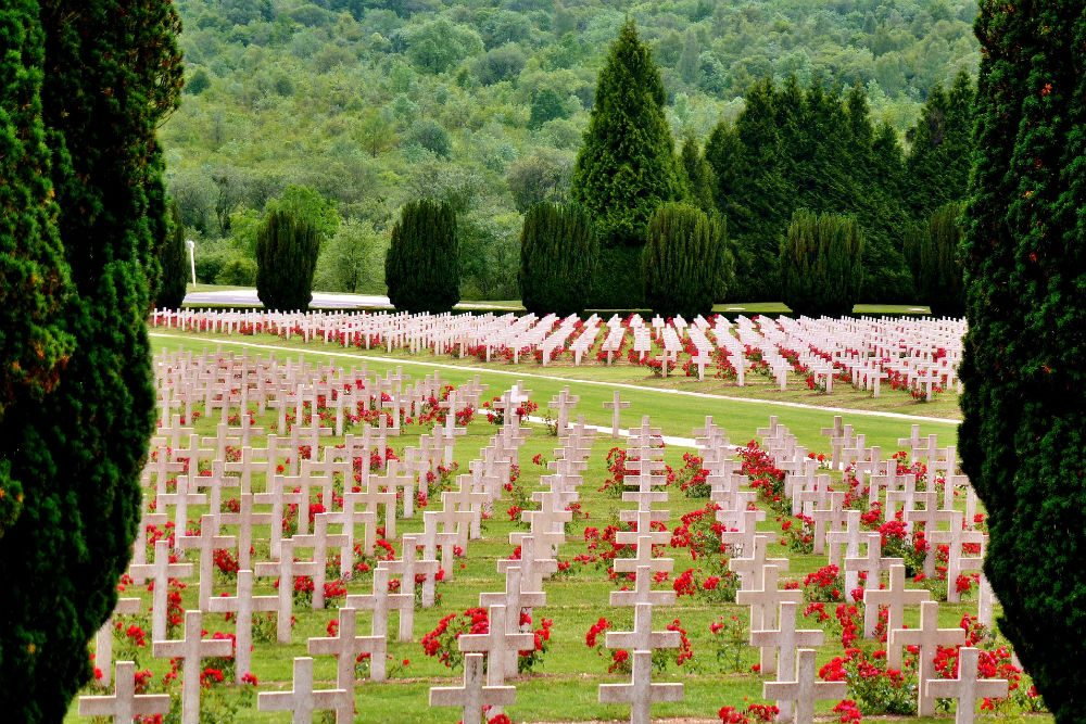 WWI war cemetery in Verdun, France