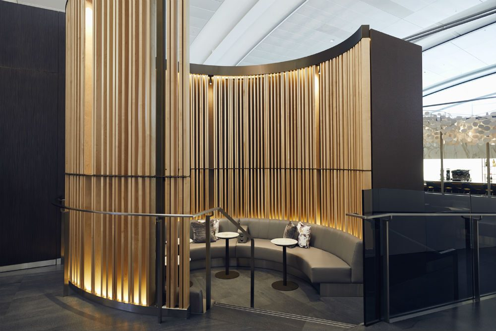 Air Canada's business class lounge at Pearson Airport in Toronto