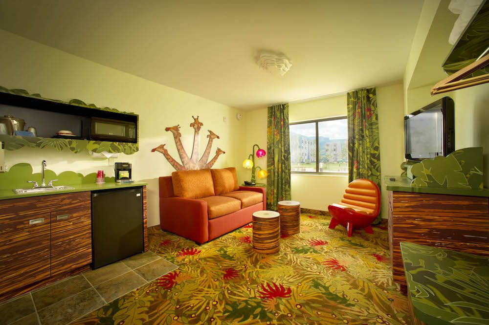 Lion King–themed family suites at Disney's Art of Animation Resort