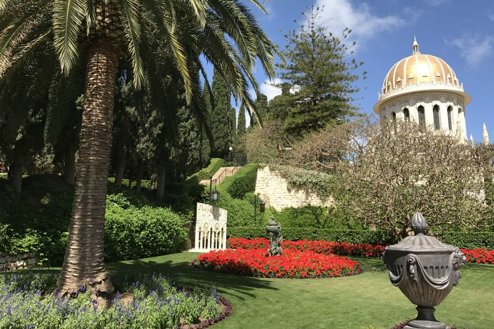 Baha'i Gardens, Haifa, Israel. Photo: Touring Israel