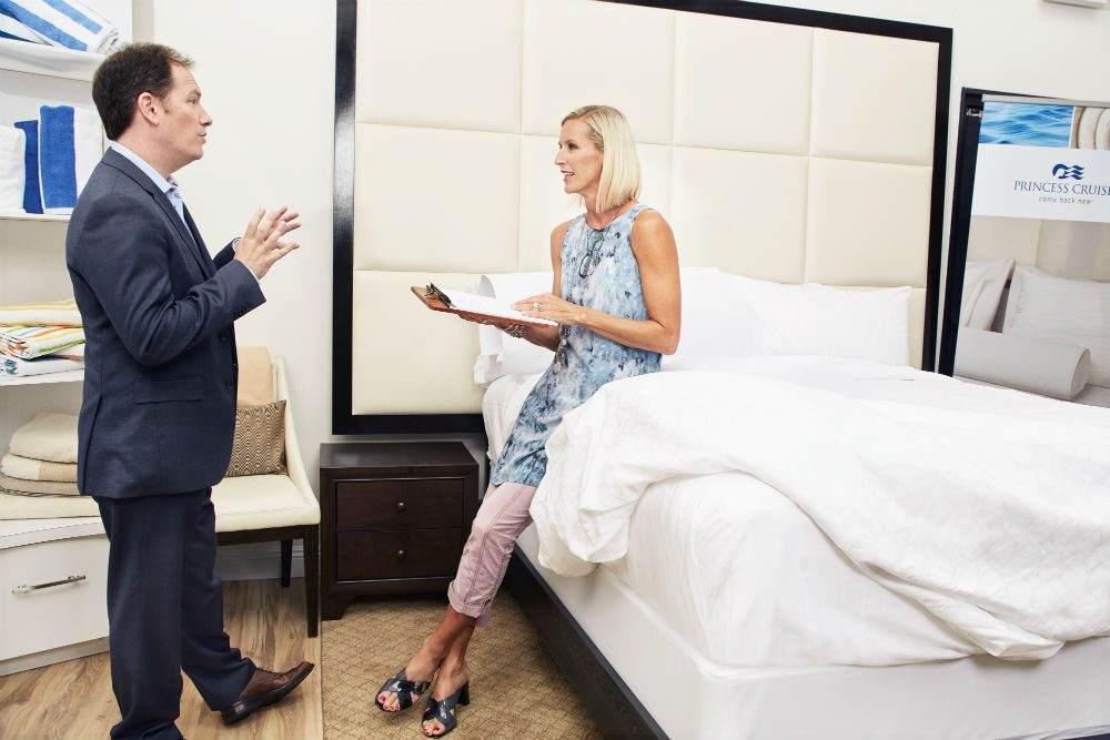 Sleep expert Dr. Michael Breus and HGTV's Candice Olson designed the Princess Luxury Bed. By 2019 every stateroom in the Princess fleet will have one. Photo: Princess Cruises