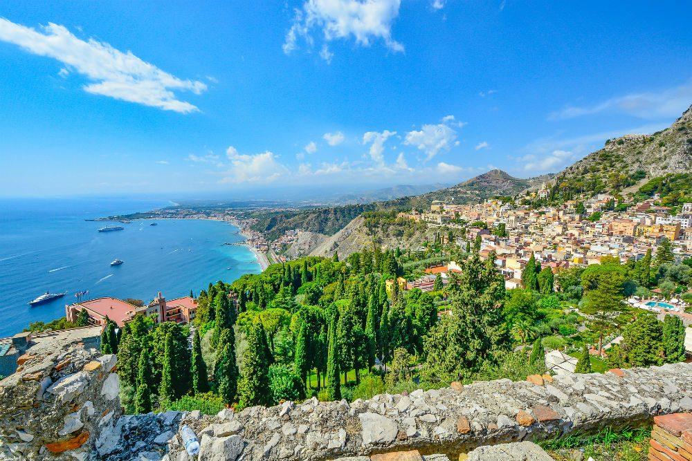 Sicily coastline Italy