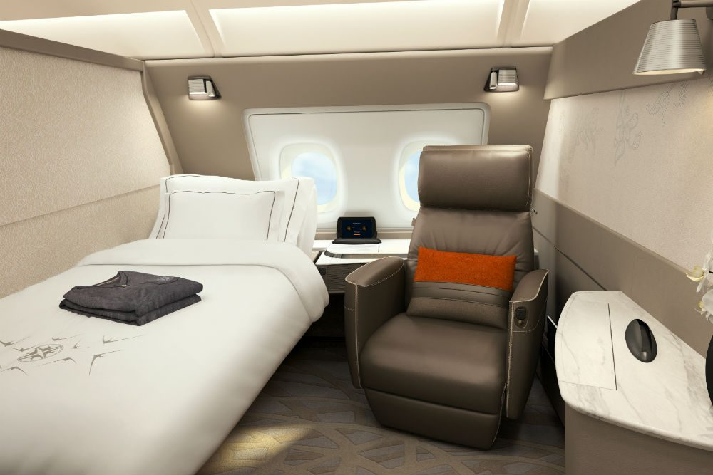 Singapore Airline's new first class suites are like mini apartments
