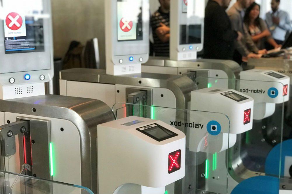 britishairways biometric boarding gates LAX