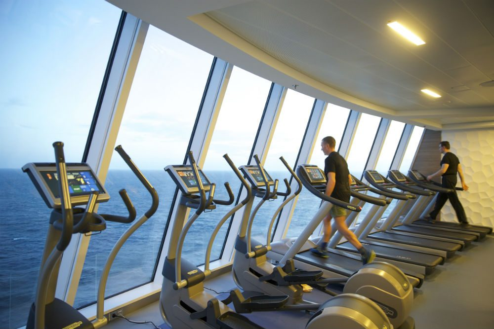 cruise ship gym Quantum of the Seas Royal Caribbean