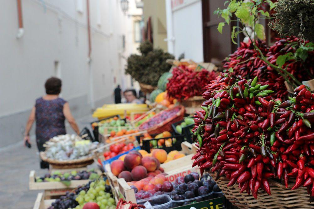 market vegetables in Puglia Italy