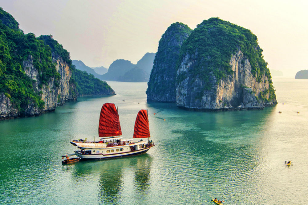 boat in Halong Bay Vietnam
