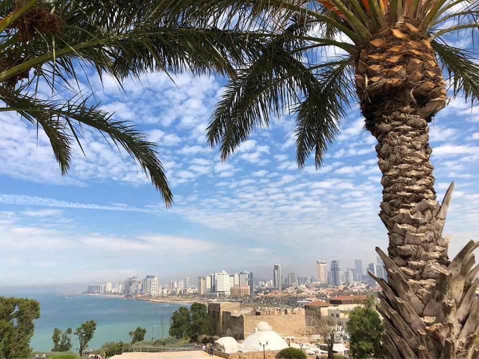 Tel Aviv promenade view from Old Jaffa Israel