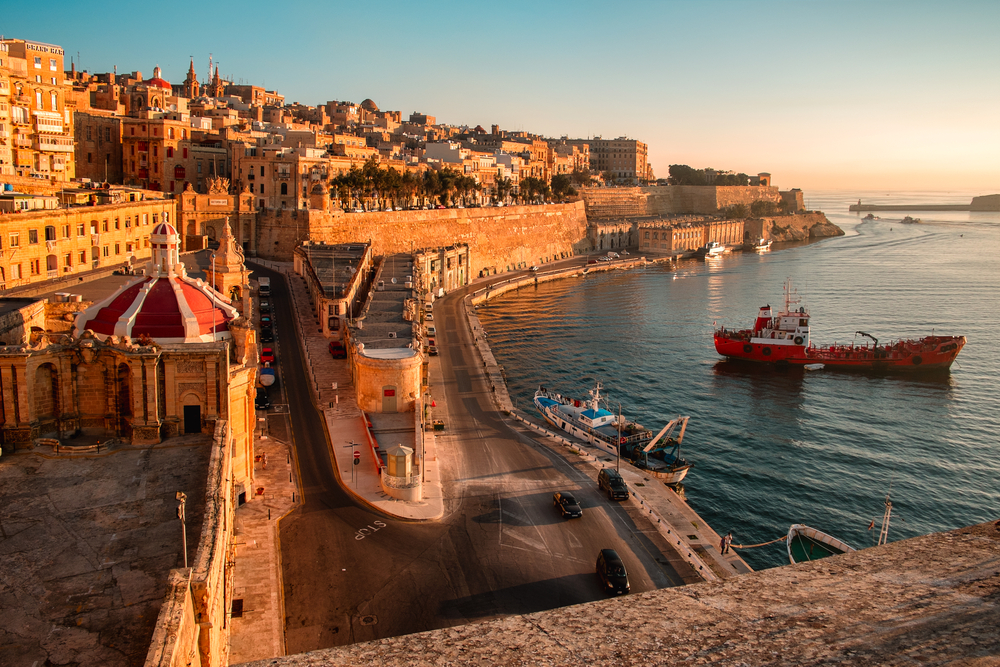 Ancient walls and streets of Valetta, the capital of Malta. Photo: Shutterstock