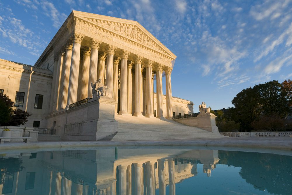 The Supreme Court building exterior in Washington, D.C