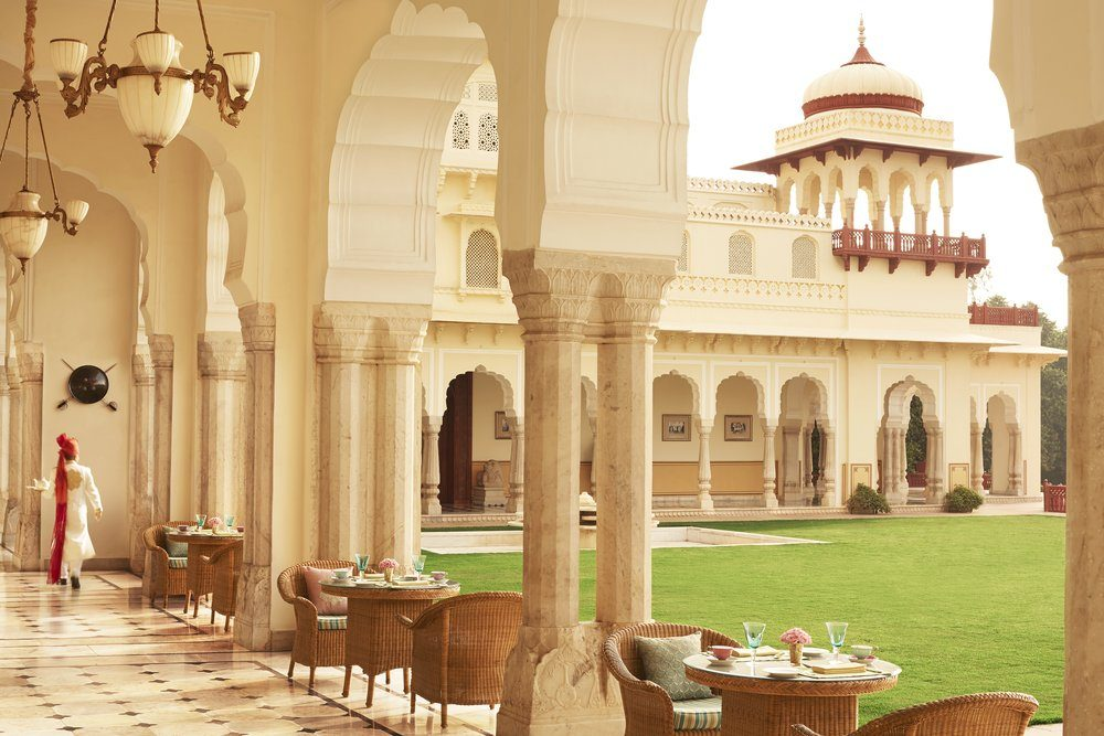 The Veranda Cafe at Rambagh Palace, Rajasthan. Photo: Taj Hotels