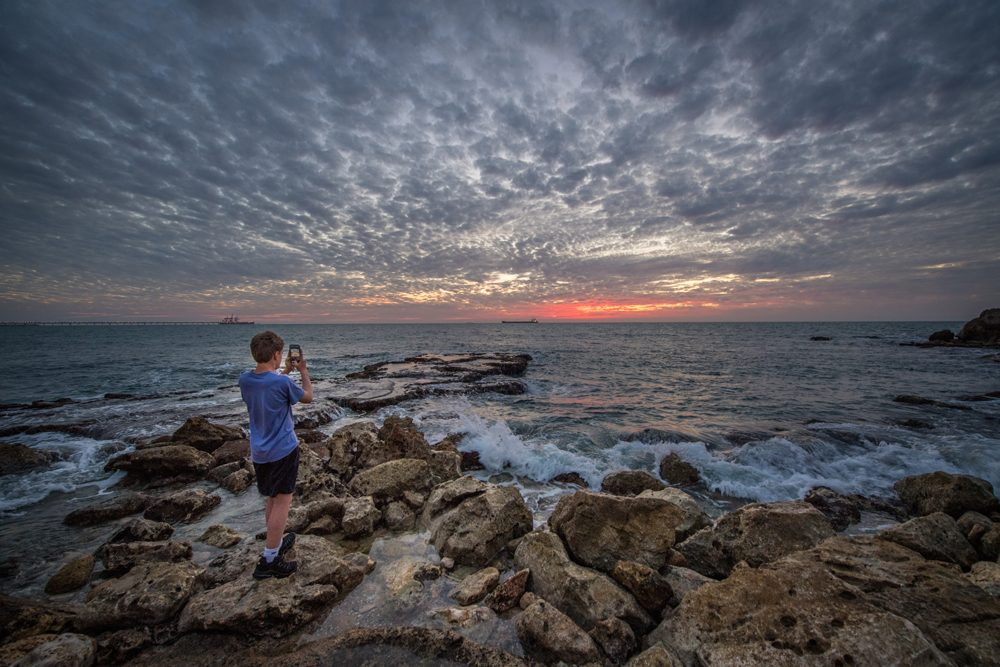 Caesarea sunset israel