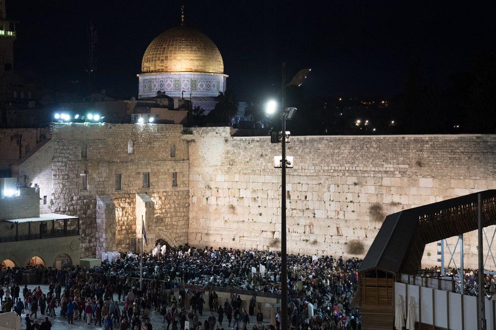 Western Wall at night Jerusalem Israel
