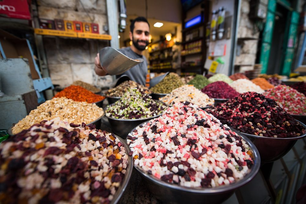 Mahane Yehuda Market dried fruit tea vendor