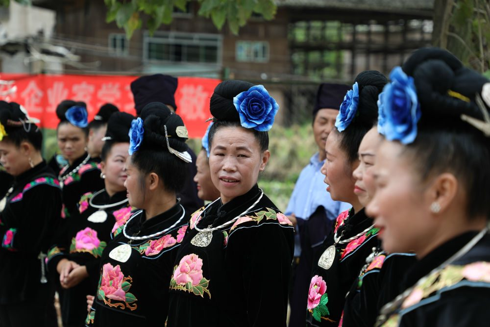 Miao festivities in Guizhou China