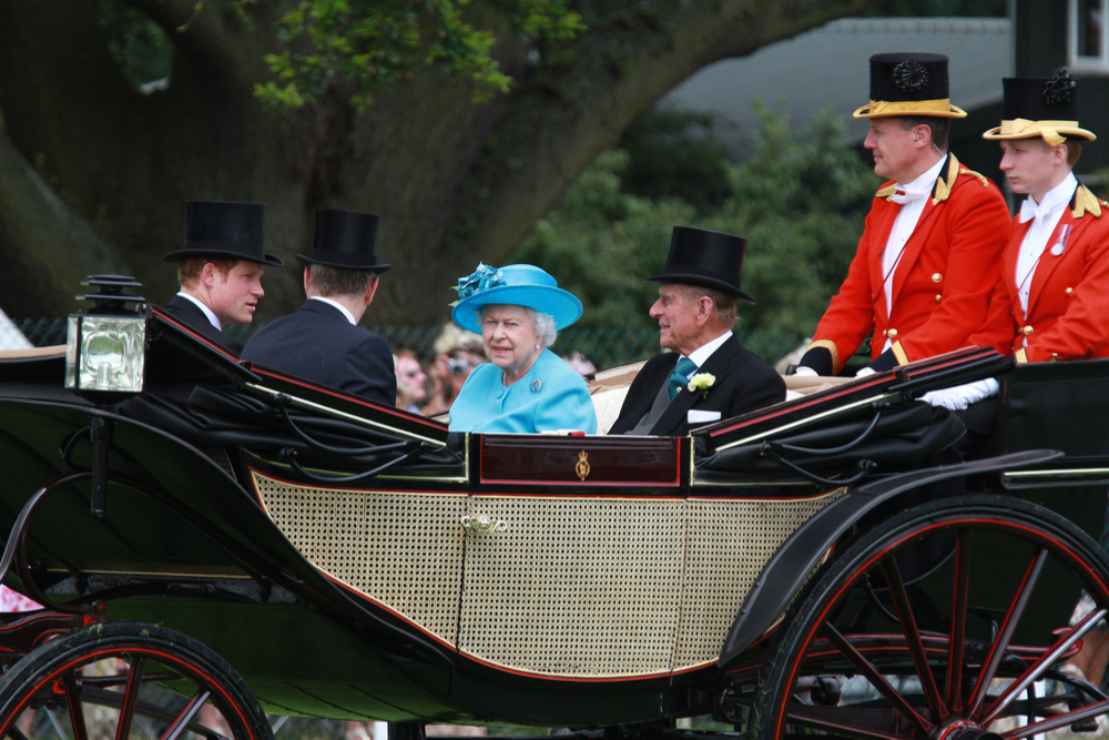 Queen Elizabeth at the Royal Ascot horse races