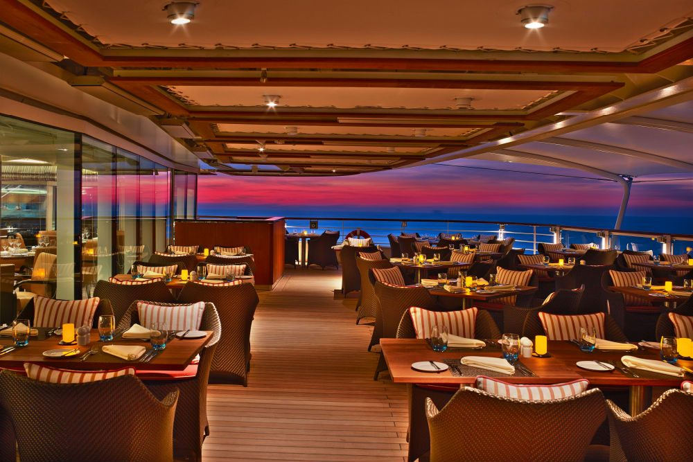 The Colonnade restaurant Seabourn Ovation cruise ship