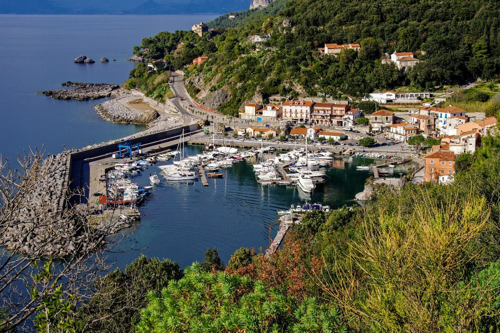 Maratea coastline village italy