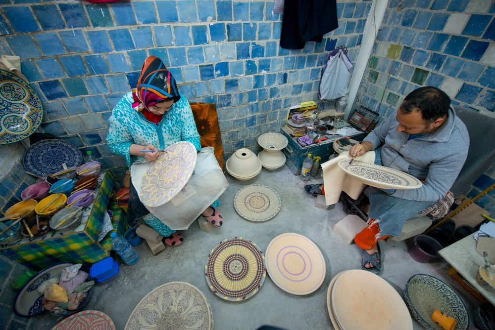 Fez Morocco ceramic studio Art d'Argile