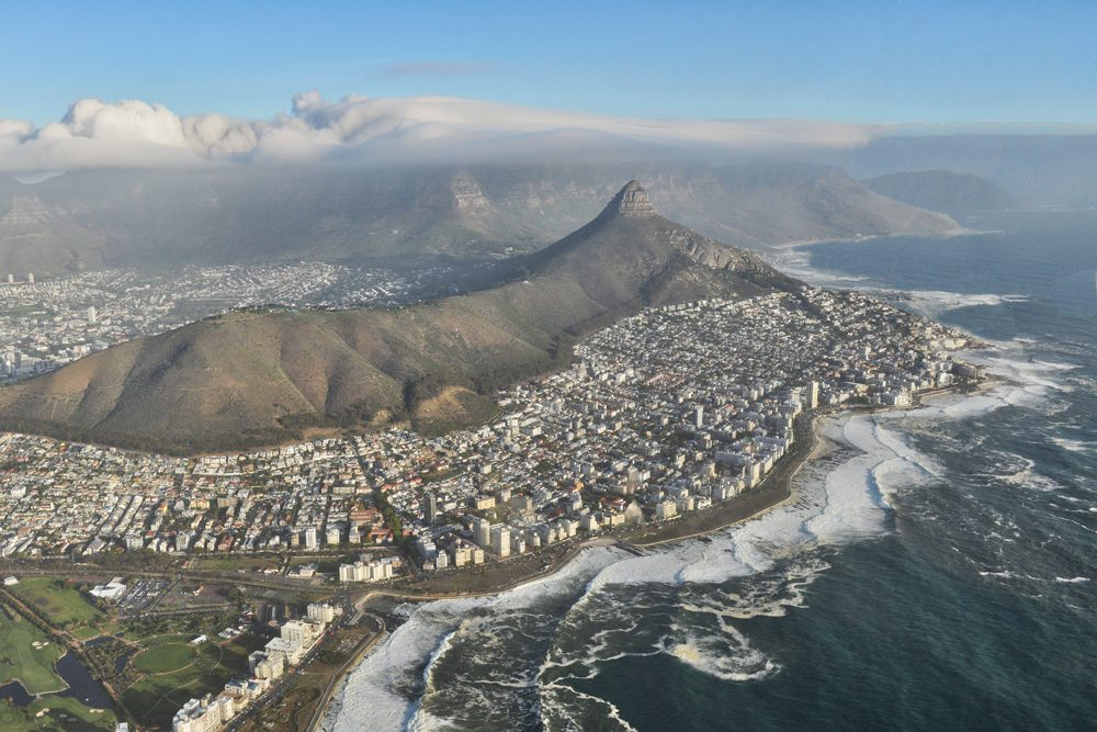 Cape Town Aerial view from helicopter. Photo: Tony Forcella