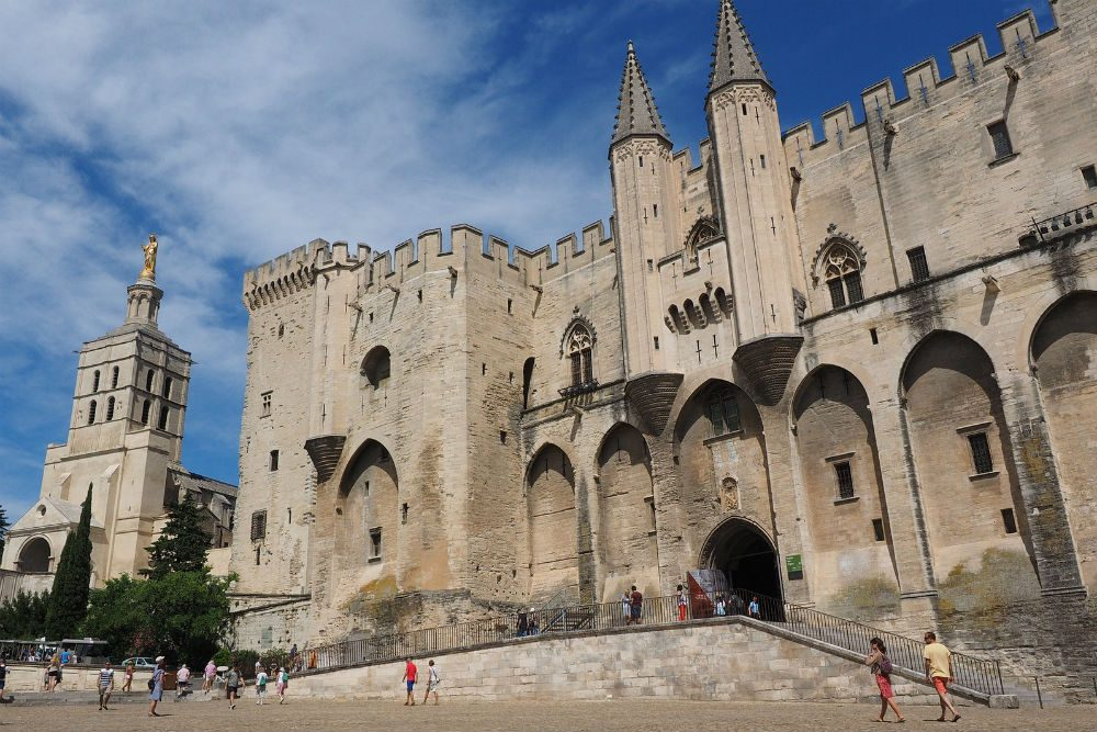 Palais des Papes in Avignon Provence France