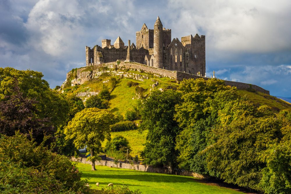 Rock of Cashel castle on a hill in Ireland