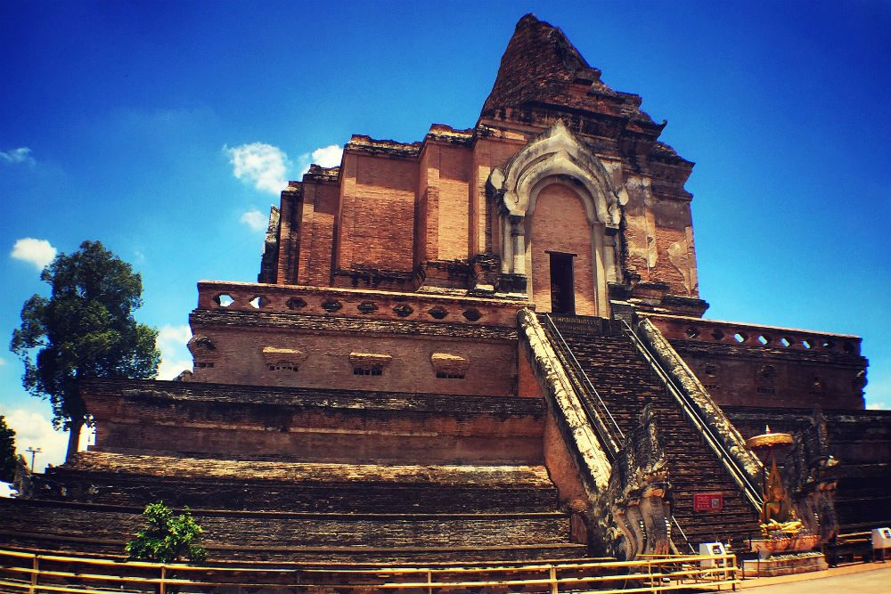 Wat Chedi Luang was the first temple in Chiang Mai Thailad