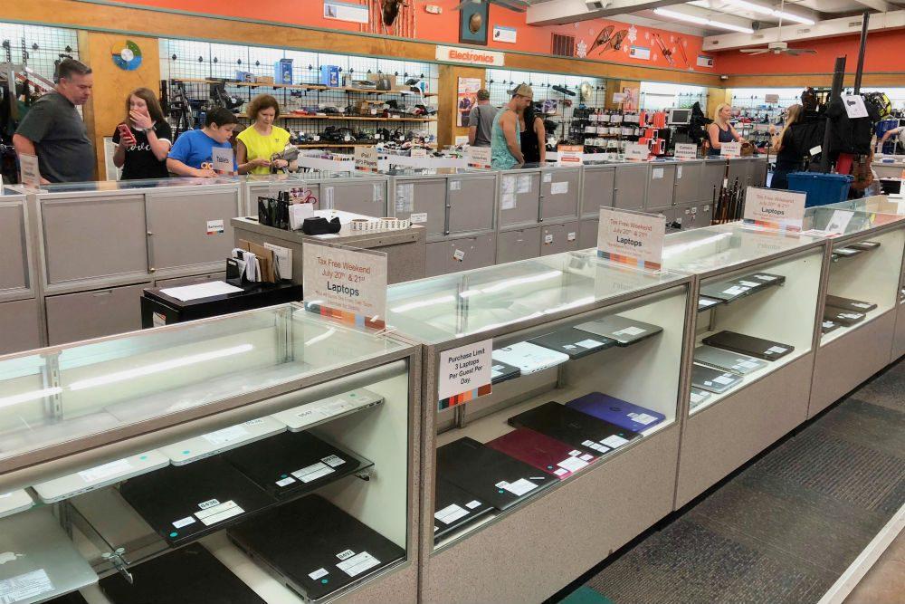 Unclaimed Baggage Center laptops