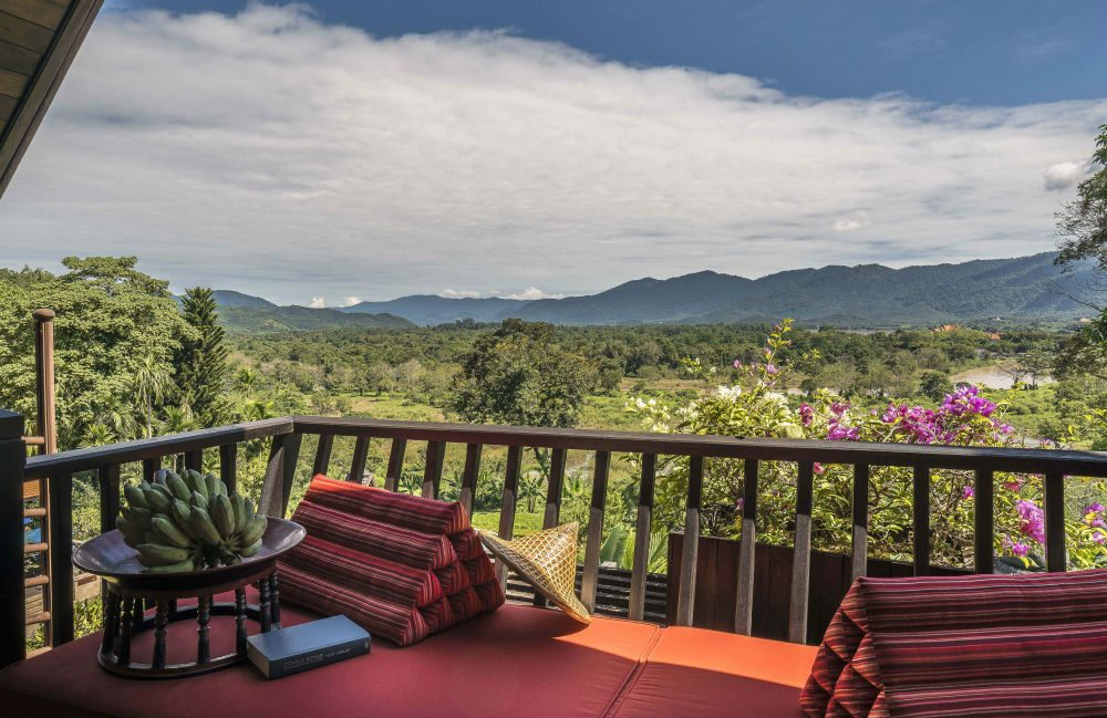 The view from Anantara Golden Triangle Resort in Chiang Rai, Thailand