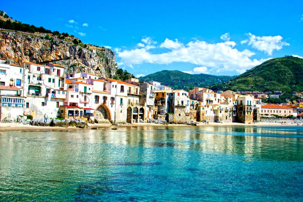 coast of Cefalu, Palermo Sicily Italy