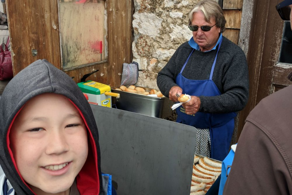 bratwurst vendor in bavaria